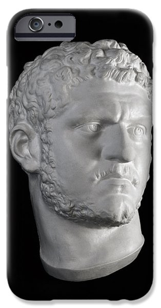 Bust Sculptures iPhone Cases - Head of Caracalla iPhone Case by Andrea Felice