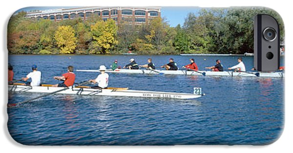 Boston Ma iPhone Cases - Head Of The Charles Rowing Festival iPhone Case by Panoramic Images