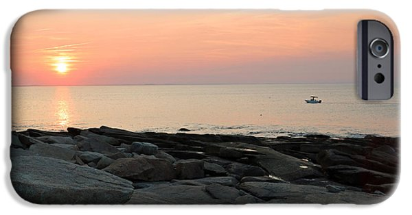 Ledge iPhone Cases - Headin in at Rockport, Massachusetts iPhone Case by Steve  Gass