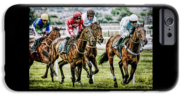 Racing iPhone Cases - Heading for home iPhone Case by Brian Tarr