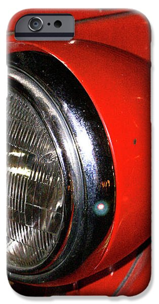 Headlamp on Red Firetruck iPhone Case by Douglas Barnett