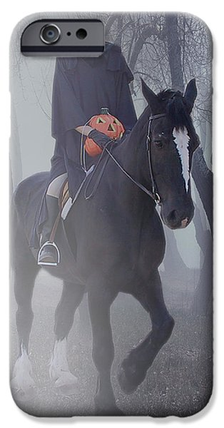 Christine Till iPhone Cases - Headless Horseman iPhone Case by Christine Till