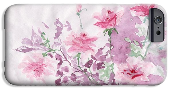 Flora Drawings iPhone Cases - Healing Roses -17  iPhone Case by Sweeping Girl