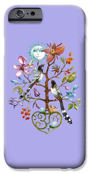 Flower Of Life iPhone Cases - Healing Tree iPhone Case by Rasa OM