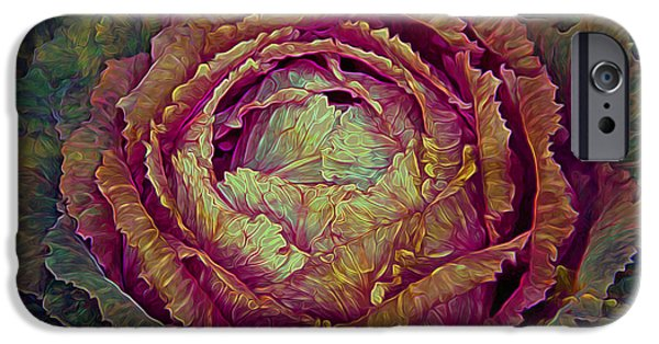 Poetic iPhone Cases - Heart of Mystery in Magenta Orange and Green iPhone Case by Lynda Lehmann