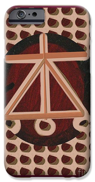 Serpent Mixed Media iPhone Cases - HEARTH Harth Karuna Reiki Healing Symbol art buy posters greetings pillows duvet covers phone cases  iPhone Case by Navin Joshi