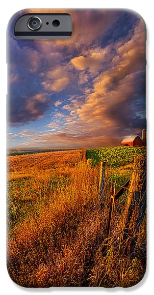 Farming Barns iPhone Cases - Heartland iPhone Case by Phil Koch