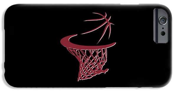 Miami Heat iPhone Cases - Heat Basketball Hoop iPhone Case by Joe Hamilton