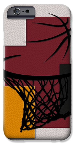 Miami Heat iPhone Cases - Heat Hoop iPhone Case by Joe Hamilton