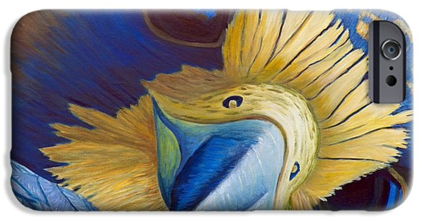 Falcon iPhone Cases - Heaven and Earth iPhone Case by Brian  Commerford