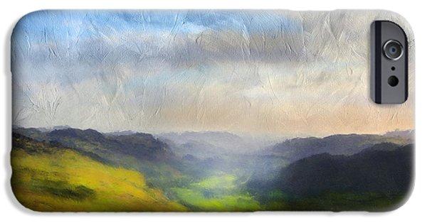 Cambria iPhone Cases - Heaven On Earth Landscape Art iPhone Case by Georgiana Romanovna