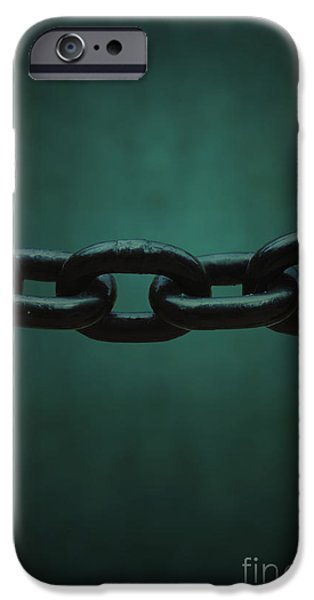 Chain-ring iPhone Cases - Heavy iPhone Case by Margie Hurwich