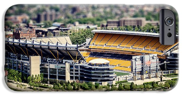 Heinz Field iPhone Cases - Heinz Field Pittsburgh Steelers iPhone Case by Lisa Russo
