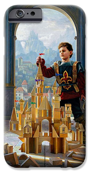 Buildings iPhone Cases - Heir to the Kingdom iPhone Case by Greg Olsen