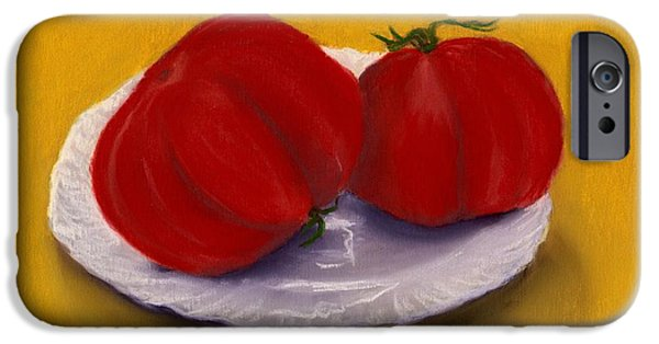 Village Pastels iPhone Cases - Heirloom Tomatoes iPhone Case by Anastasiya Malakhova