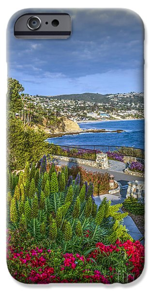 Heisler Park iPhone Cases - Heisler Cove Laguna Ca iPhone Case by David  Zanzinger