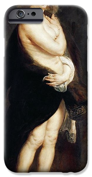 Red Carpet iPhone Cases - Helena Fourment in a Fur Wrap iPhone Case by Rubens