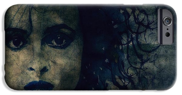 Lips Digital Art iPhone Cases - Helena iPhone Case by Paul Lovering