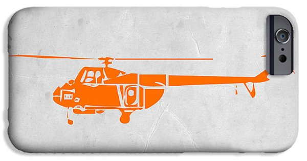 Boxes iPhone Cases - Helicopter iPhone Case by Naxart Studio