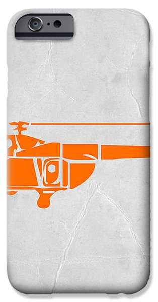 Helicopter iPhone Case by Naxart Studio