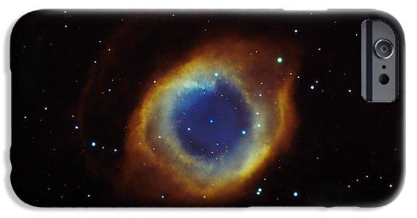 Constellations iPhone Cases - Helix Nebula In Aquarius Ngc 7293 iPhone Case by Filipe Alves