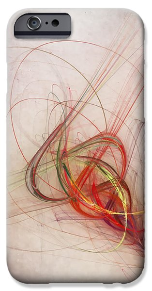 Abstract Digital iPhone Cases - Helix iPhone Case by Scott Norris