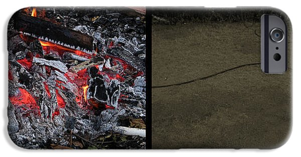 Coal iPhone Cases - Hell iPhone Case by James W Johnson