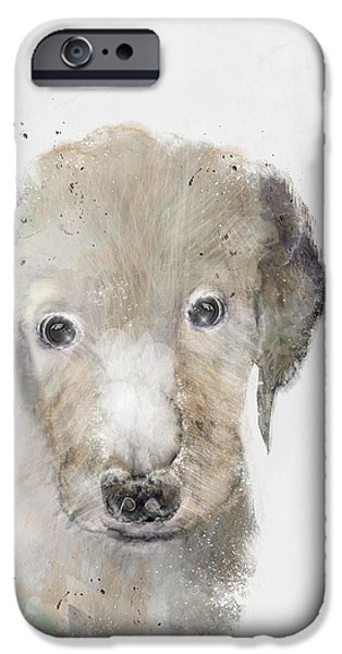 Puppies iPhone Cases - Hello Little Labrador iPhone Case by Bri Buckley