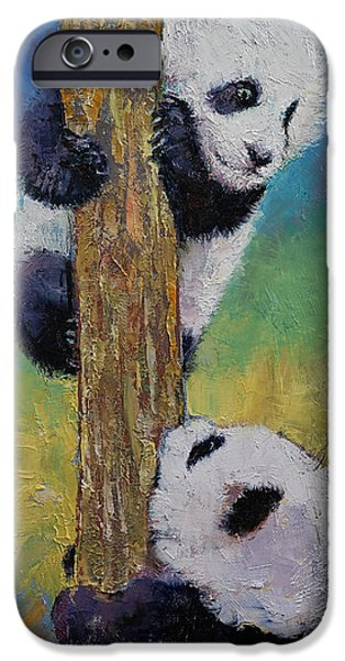 Enfants iPhone Cases - Hello iPhone Case by Michael Creese