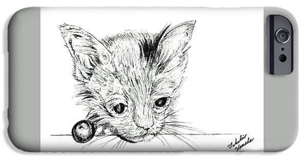 Kobe Drawings iPhone Cases - Hello iPhone Case by Takahiro Yamada