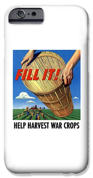 Crops iPhone Cases - Help Harvest War Crops iPhone Case by War Is Hell Store