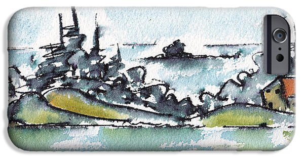 Drama iPhone Cases - Helsinki Islands No 2 iPhone Case by Pat Katz