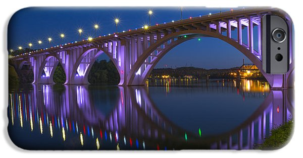 Tennessee River iPhone Cases - Henley Bridge in Knoxville TN iPhone Case by Mike McGlothlen