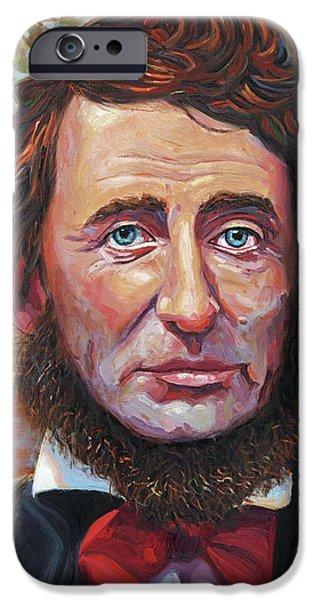 Thoreau iPhone Cases - Henry David Thoreau iPhone Case by Steve Simon