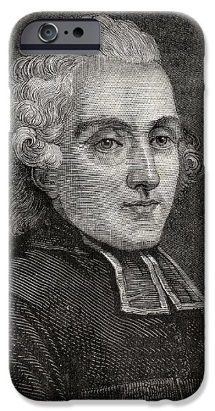 Religious Drawings iPhone Cases - Henry Essex Edgeworth, Aka L Abbe iPhone Case by Ken Welsh