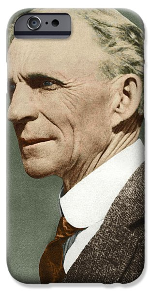 Technological iPhone Cases - Henry Ford, Us Car Manufacturer iPhone Case by Sheila Terry