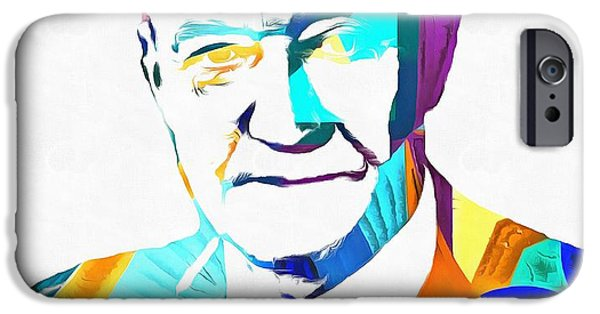 Conservative iPhone Cases - Henry Hazlitt Colorful Abstract iPhone Case by Dan Sproul