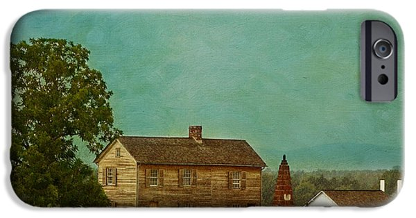 Rural iPhone Cases - Henry House at Manassas Battlefield Park iPhone Case by Kim Hojnacki