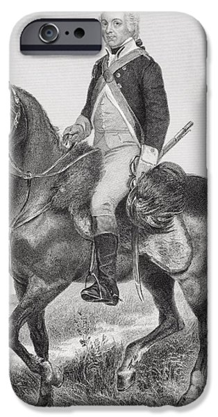 American Revolution iPhone Cases - Henry Lee 1756 - 1818. Cavalry Officer iPhone Case by Ken Welsh