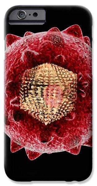 Hepatitis C Virus, Artwork iPhone Case by Mehau Kulyk