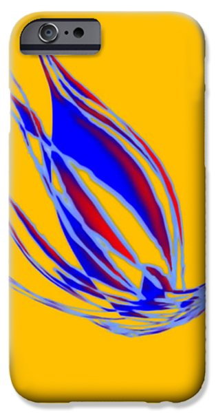 Angel Blues iPhone Cases - Her Special Blue Bird Place   iPhone Case by Valerie Christopher