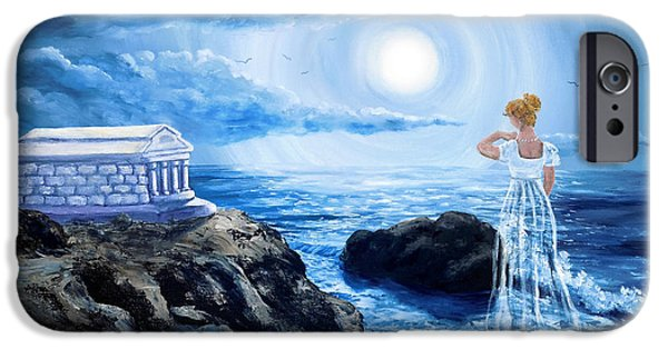 Supernatural iPhone Cases - Her Tomb by the Sounding Sea iPhone Case by Laura Iverson