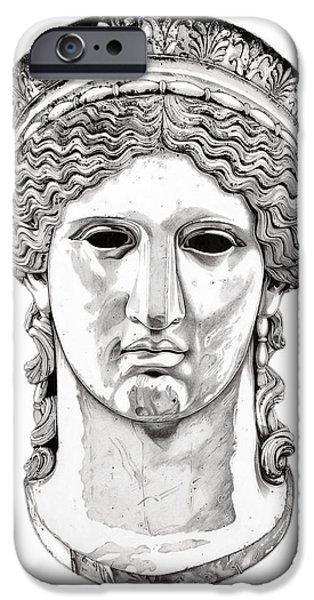 European Sculptures iPhone Cases - Hera _ V1 iPhone Case by Bruce Algra