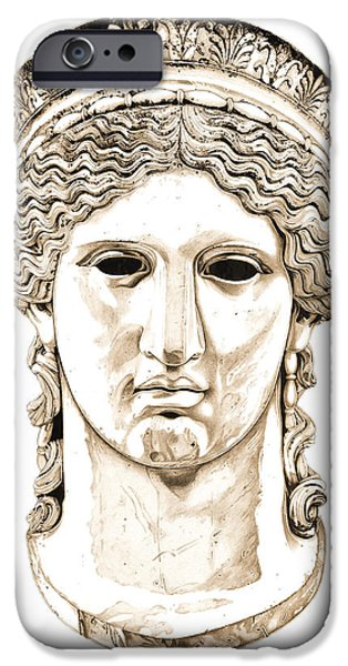Bust Sculptures iPhone Cases - Hera _ V2 iPhone Case by Bruce Algra