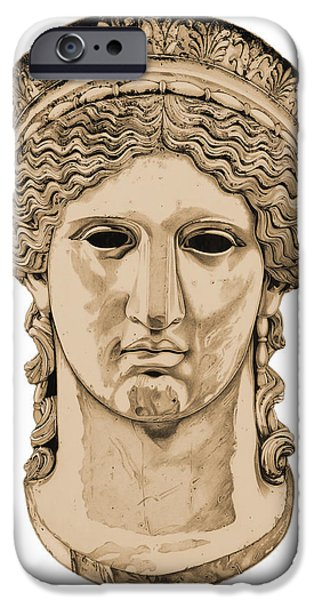 Bust Sculptures iPhone Cases - Hera _ V3 iPhone Case by Bruce Algra
