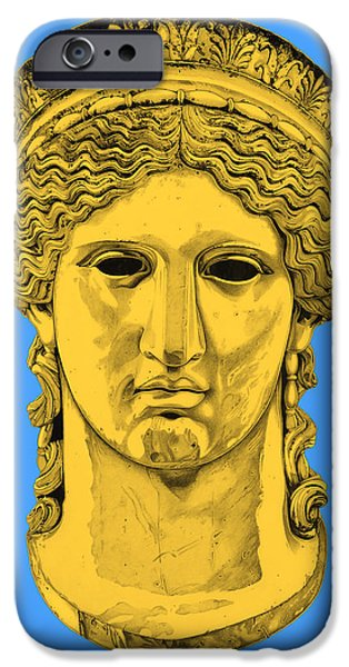 Bust Sculptures iPhone Cases - Hera _ V4 iPhone Case by Bruce Algra
