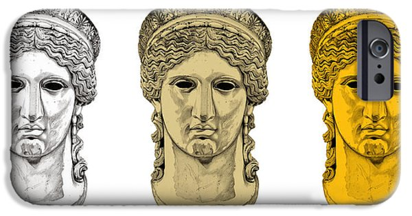 Bust Sculptures iPhone Cases - Hera _ V6 iPhone Case by Bruce Algra