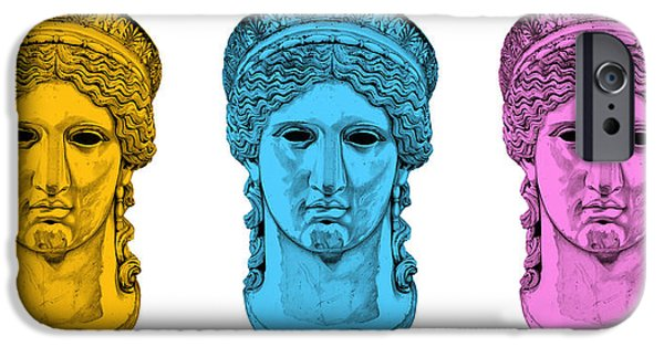 Bust Sculptures iPhone Cases - Hera _ V7 iPhone Case by Bruce Algra