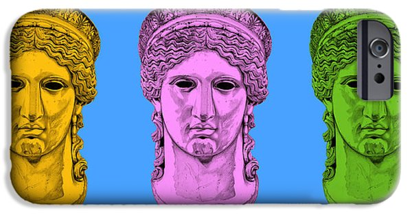 Bust Sculptures iPhone Cases - Hera _ V8 iPhone Case by Bruce Algra