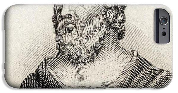Ephesus iPhone Cases - Heraclitus Of Ephesus Aka The Obscure iPhone Case by Ken Welsh